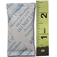 """Silica Gel Desiccants Packets - 1 1/4"""" X 2 1/2"""" - 5 Gram Packs - 100 Packets of Dry-Packs brand Silica Gel!"""