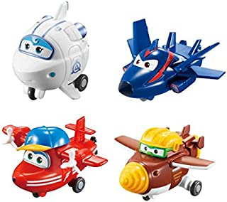 Super Wings - Transform-a-Bots 4 只装 — 翻转、Tod、Agent Chase、Astra — 玩具人形玩具 2 英寸比例