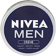 Nivea 妮维雅 男士乳霜 适用于脸部,身体和手部的护肤霜,具有清新男性气息的滋养保湿霜,单罐装(1 x 150ml)