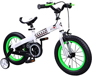 RoyalBaby 男孩女孩儿童自行车蜂蜜纽扣 3-9 岁 12 14 16 18 英寸训练轮支架 红色 蓝色 * 紫色 粉色 儿童自行车