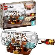 LEGO 乐高 Ideas Ship in a Bottle 92177 专业积木套件,Snap Together 模型船,可收藏展示套装和成人玩具(962 件)