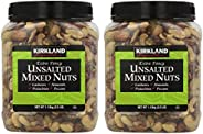 KIRKLAND Signature QNKDQK 超花式無鹽混合堅果,2.5磅(約7公斤) 2片裝
