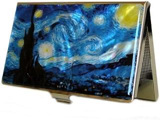 Antique Alive 精美商务名片盒男士时尚名片夹星夜图案创意礼品卡