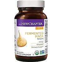 New Chapter 有机玛咖补充剂-发酵玛咖片  提供能量+耐力+恢复- 96 CT
