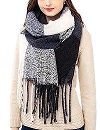 女式羊絨圍巾冬季圍巾柔軟羊絨手感大號仿羔皮呢披肩(60 厘米 x 180 厘米)