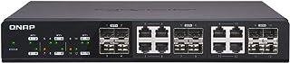 Qnap 雙 M.2 22110/2280 SATA SSD 擴展卡(PCIe Gen2 X 2),半高支架預安裝,低調平和全高捆綁QSW-1208-8C-US 12 Ports SFP+ shared with 8 Ports Tbase