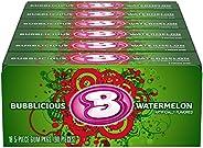 Bubblicious 西瓜波浪泡泡糖 18 包(5 件装)