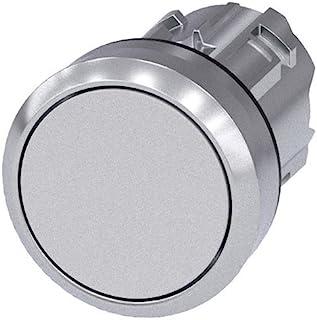 Siemens 西门子 3SU1050-0AB60-0AA0 PUSHBUTTON,22 毫米,圆形,金属,有光泽,白色,平键式接触类型
