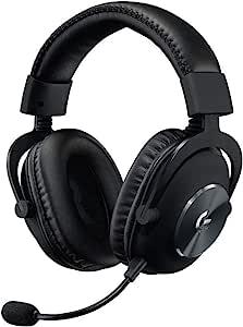 Logitech 罗技 G PRO X 游戏耳机套装(第2代) 带Blue VOICE技术,DTS耳机:X 7.1,PRO-G 50毫米扬声器,7.1环绕声,适合电竞游戏,适用于PC/Mac/Xbox One/PS4/Nintendo Switch,黑色