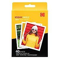 柯达3.5x4.25英寸高级Zink打印相纸兼容柯达微笑经典即时照相机RODZL3X440 40 Sheets