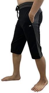 YogaAddict 男士瑜伽短裤 舒适长裤 适用于任何瑜伽 普拉提 户外 健身 锻炼
