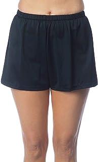 Maxine Of Hollywood 女式 5 英寸宽松中腰游泳短裤 黑色 10