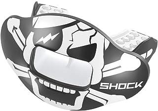 Shock Doctor Max AirFlow 美式橄榄球和高对抗运动护齿套,透气舒适,提供唇部保护,适合青少年和成人尺寸,配有头盔固定带
