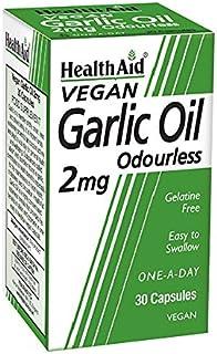 HealthAid 大蒜油 2 毫克 - 30 粒素食胶囊