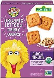 Earth's Best 饼干,儿童零食,燕麦肉桂,字母饼干 5.3盎司(150