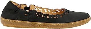 El Naturalista 女士 N5308 Pleasant 黑色/珊瑚色芭蕾舞鞋
