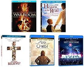 终极圣诞 5 部电影信仰和激发灵感的蓝光 DVD 基督教系列:战争房/天堂是真实的/ Do You Believe? /基督/希尔逊手机壳:Let Hope Rise [Bluray + DVD]