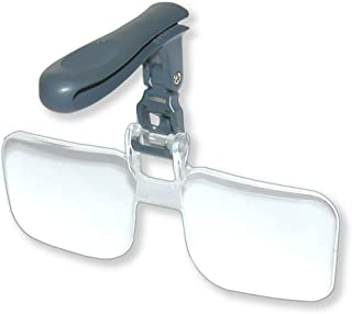Carson 1.75x VisorMag 卡扣放大镜 适用于帽子VM-12 2x (+4.00 Diopeters) 灰色