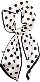 DEOIRC 时尚包手提包手柄丝带围巾波尔卡圆点印花领巾围巾