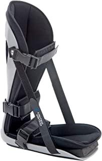 United Ortho 足底*可调节腿部支撑支架适合右脚或左脚缓解酸痛、脚痛和拉伸,中号,黑色
