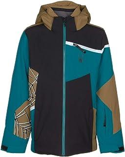 Spyder 男童 Challenger 滑雪夹克 – 儿童全拉链连帽冬季外套