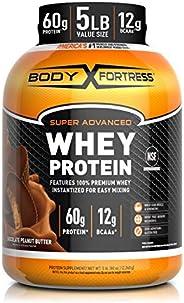 Body Fortress Super Advanced Whey Protein Powder, Gluten Free, Chocolate Peanut Butter, 5 Lbs