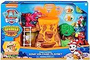 PAW PATROL 6059772 恐龙救援火山玩具套装,带Zipline和3个*人偶