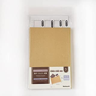 Nakabayashi 纸箱信纸信封 A5 5片装 附带厚度计数器 NDLF-A5