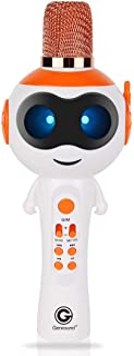 神奇语音玩具,Genround 无线蓝牙卡拉 OK 麦克风,带可控 LED 灯,神奇语音 ECHO,3 合 1 便携式手持卡拉 OK 麦克风扬声器机器儿童生日*佳礼物