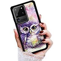 适用于三星 Note 20 Ultra,耐用保护软背手机壳手机壳,HOT12318 猫头鹰漆