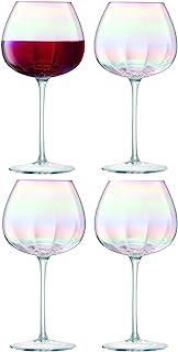LSA International 珍珠红葡萄酒杯 15.6液体盎司/约461.34毫升 / 高7.75英寸/约19.69厘米 x 4