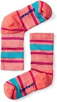 Smartwool 儿童条纹远足轻船袜 - 过去季节 小号 粉红色 B01212494. S