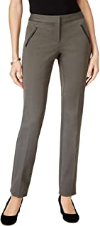 Alfani 人造皮革修身长裤