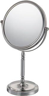 Kimball & Young 86675 嵌入式底座化妆镜,1 倍和 5 倍放大,拉丝镍