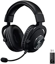 Logitech G PRO X kabelloses Lightspeed PC-kompatibles Gaming-Headset mit Blue VOICE Mikrofontechnologie, 50 mm PRO-G Lauts...