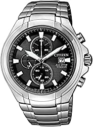CITIZEN 西铁城 男士 指针式石英手表 钛 表带 CA0700-86E