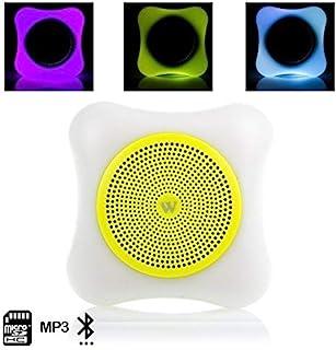蓝牙音箱带 LED 照明,MP3 播放器,SD 卡读卡器,免提装置和挂带DMT118YELLOW 黄色