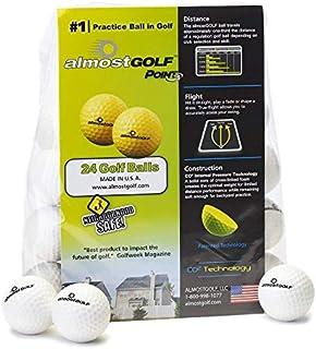 AG Almost 高尔夫球 - 限量版飞行练习高尔夫球 - (24 只装) - 几乎高尔夫球泡沫高尔夫训练辅助器适用于室内或室外练习 - 包括 24 个几乎高尔夫球 5 个自由球座