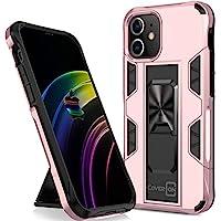 CoverON 适用于 Apple iPhone 12 迷你手机壳(5.4 英寸),磁性滑动支架环坚固手机壳 - 玫瑰金