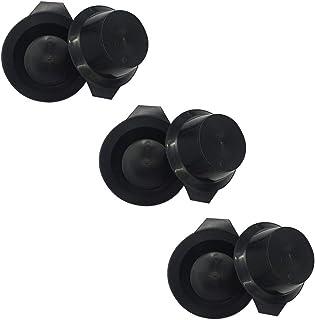6 件*碗 *碗 *碗 塑料颜色 混合碗 *染色 DIY 油*工具 适用于沙龙美发,黑色