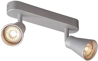 SLV AVO CW Double, 室内壁灯和天花板顶灯 QPAR51 银色 *大 50 W 灯具 金属 0 W 灰色