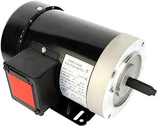 Cuilvu 1HP 电动机 1725 RPM,三相,56C 框架,5/8轴直径轧钢外壳空气压缩机电动机 60HZ 230V/460V