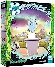 USAOPOLY Rick and Morty Shy Pooper 1000片拼图游戏 | 官方许可的Rick&Morty商品 | 具有Rick Sanchez特色的收藏拼图 | 瑞克和莫蒂艺术品