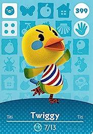 Nintendo 任天堂动物过境快乐家居设计师 Amiibo Card Twiggy 399/400 美国版