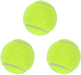 网球板球橡胶球 3 件装优质更耐用坚固减震器高弹性