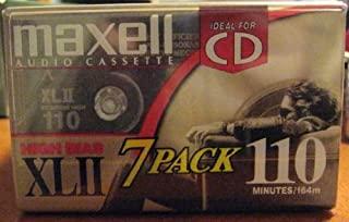 Maxell Audio Cassette High Bias XLII 110 Minutes 7 Pack 耳道式/ 入耳式