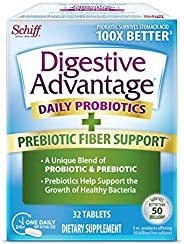 Schiff 旭福 Digestive Advantage 益生元纤维加益生元片(一盒32粒)-帮助支持菌体的生长*,支持吸收和机体抵抗能力*