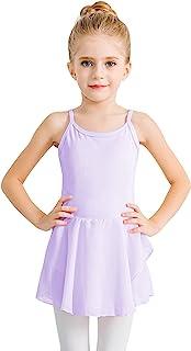 STELLE 女童棉质吊带背心连衣裙紧身连衣裤,适合舞蹈、体操和芭蕾(幼童/小女孩/大女孩)