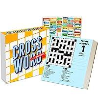 Crosswords 2021 日历,盒装版套装 - 豪华版 2021 每日填字拼图一天一天盒装日历,带 100 多个日历贴纸