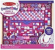 Melissa & Doug 美國瑪莉莎 豪华精选木珠套装,送给男孩和女孩的一份完美礼物——适合4、5、6、7和8